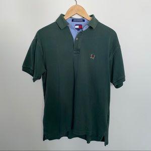 Vintage Tommy Hilfiger Men's Polo Forest Green